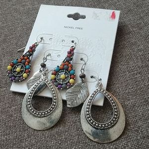 NWT Boho Earrings Three Pair Set